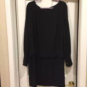 Xscape Embellished Jersey Blouson Dress Black